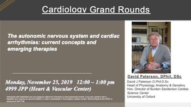ACRC Seminar Series Cardio Grand Rounds Nov 25