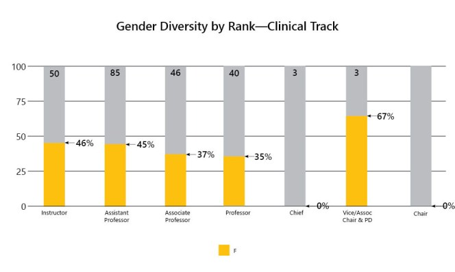 2-Gender Diversity by Rank-Clinical Track