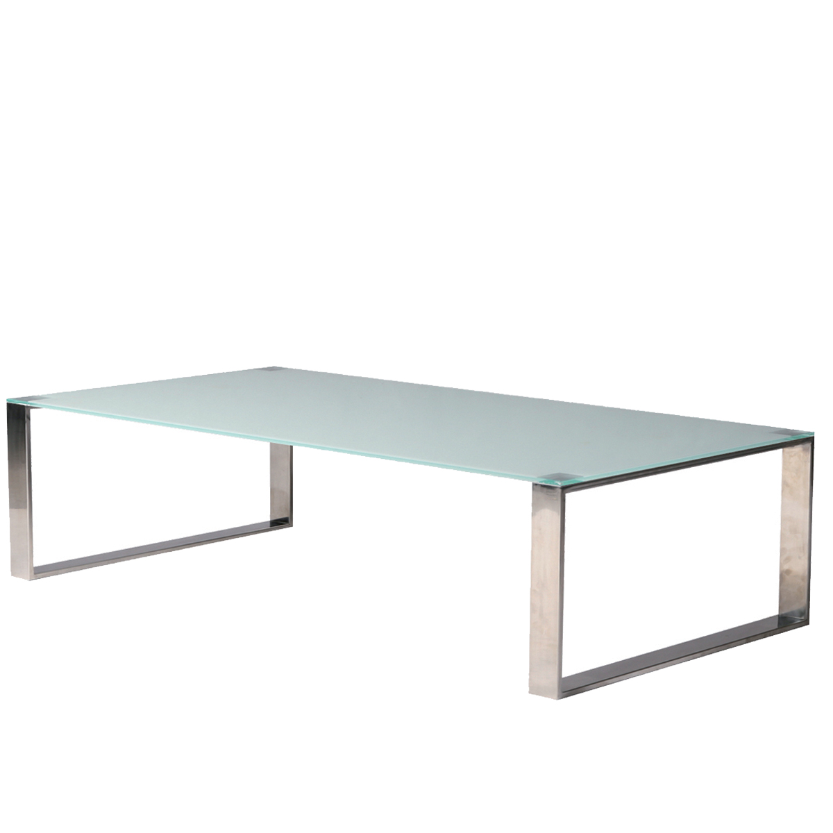 table basse glass verre blanc opaque