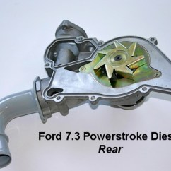 7 3 Powerstroke 480v Phase To 120 240v Transformer Wiring Diagram Ford Diesel Water Pump Rear Picture F6tz 8501a