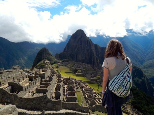 "Kelly Bryant visiting to Machu Pichu during the UMW in Peru ""International Perspectives on Leadership"" summer program."