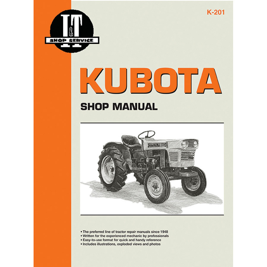 medium resolution of kubota service manual 168 pages includes wiring diagrams for all models except l175