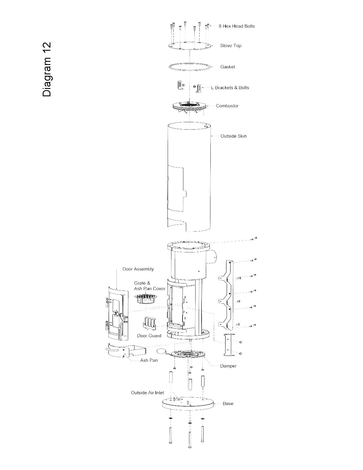 "Kimberly Style Wood Stove Plans, Renamed ""Cantemazapeta"
