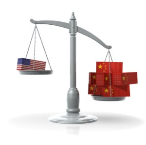 China Surpasses U.S. in World Trade.