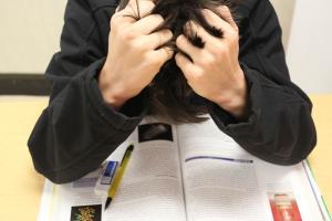 有压力的学生