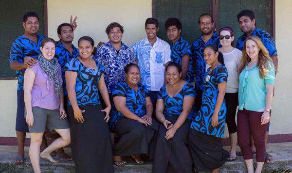 A group picture of the New Zealand speech therapists who traveled to Samoa and their trainees.