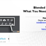 Blended Learning - What You Should Know - EduTechAsia19 - Matt Harris, Ed.D