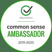 Common Sense Media Ambassador 2019-2020