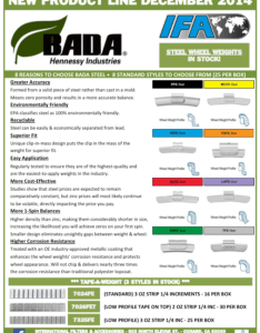 Steel wheel weights also end of product flyer  bada hennessy industries rh internationalfilters
