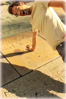 Marilyn Monroe's hand prints in front of Grauman's Chinese Theatre in Hollywood