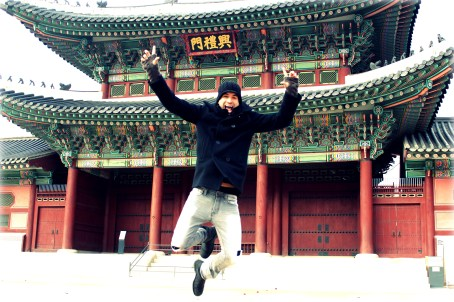 Excited to be at the Gyeongbokgung Palace in Seoul, Korea
