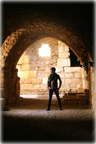 Inside the ruins of Byblos Castle in Byblos, Lebanon