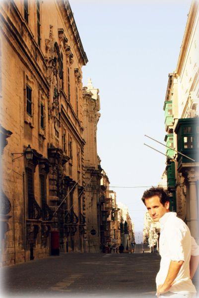 The streets of Valletta, the capital of Malta