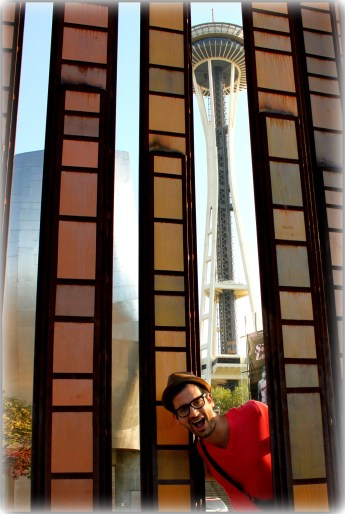 In front of the Seattle Space Needle