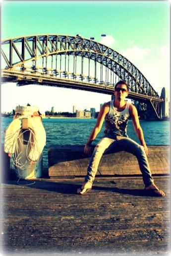 Chilling under the Sydney Harbor Bridge