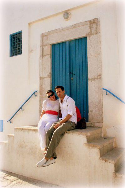 The famous blue doors of Tunis, Tunisia