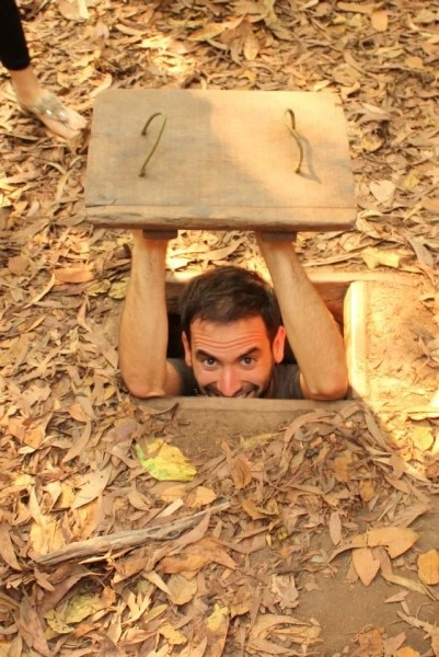 Exploring the Củ Chi tunnels in the Củ Chi District of Ho Chi Minh City, Vietnam