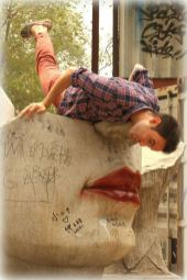 Stealing kisses in the Beijing's art district