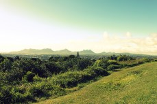 Mauritius hill top view