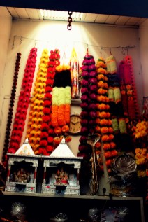 Indian religious items on sale insdie the market