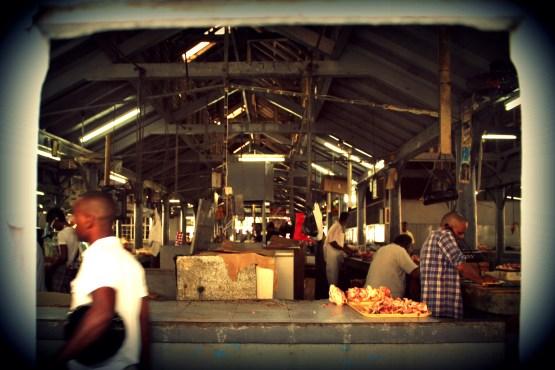 A look inside the Port Louis meat market