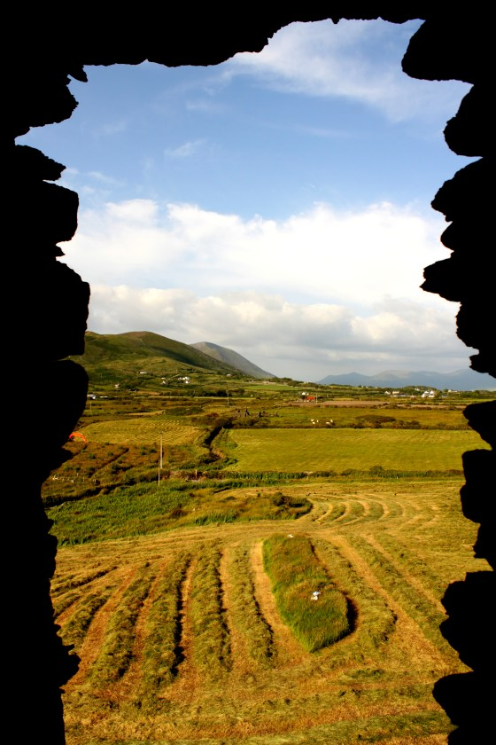 Looking out the window from Ballycarbery Castle