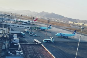 Two Safi jets parked at Kabul International Airport