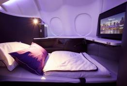 The latest in in-flight comfort, with ample space to multi-task, customised triple-layer seat cushion supported by a hammock sub-frame and a turndown service with memory foam mattress toppers and high-grade cotton pillows and doonas