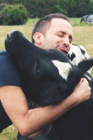 I hug cows I don't eat them