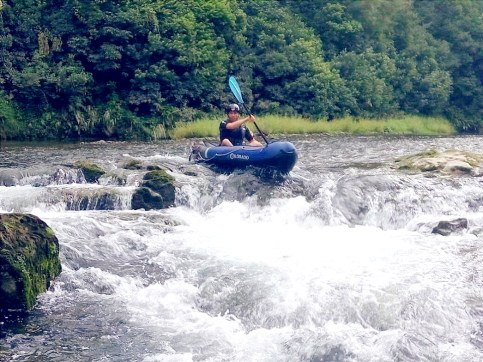Taking the rapids on the Pelorus