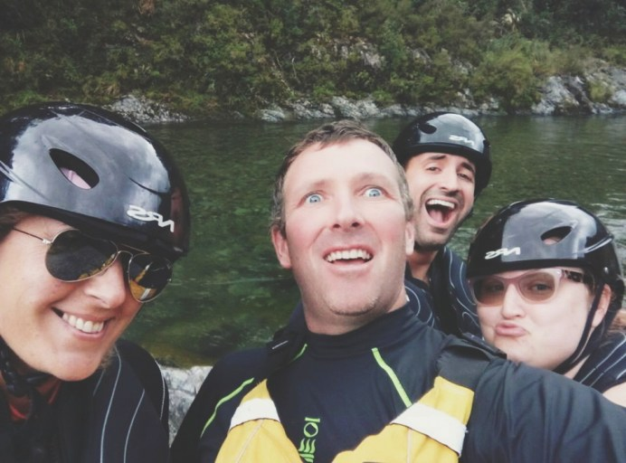 With our awesome guide Shane from Pelorus Eco Adventures