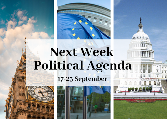 Next Week Political Agenda (17-23 September)