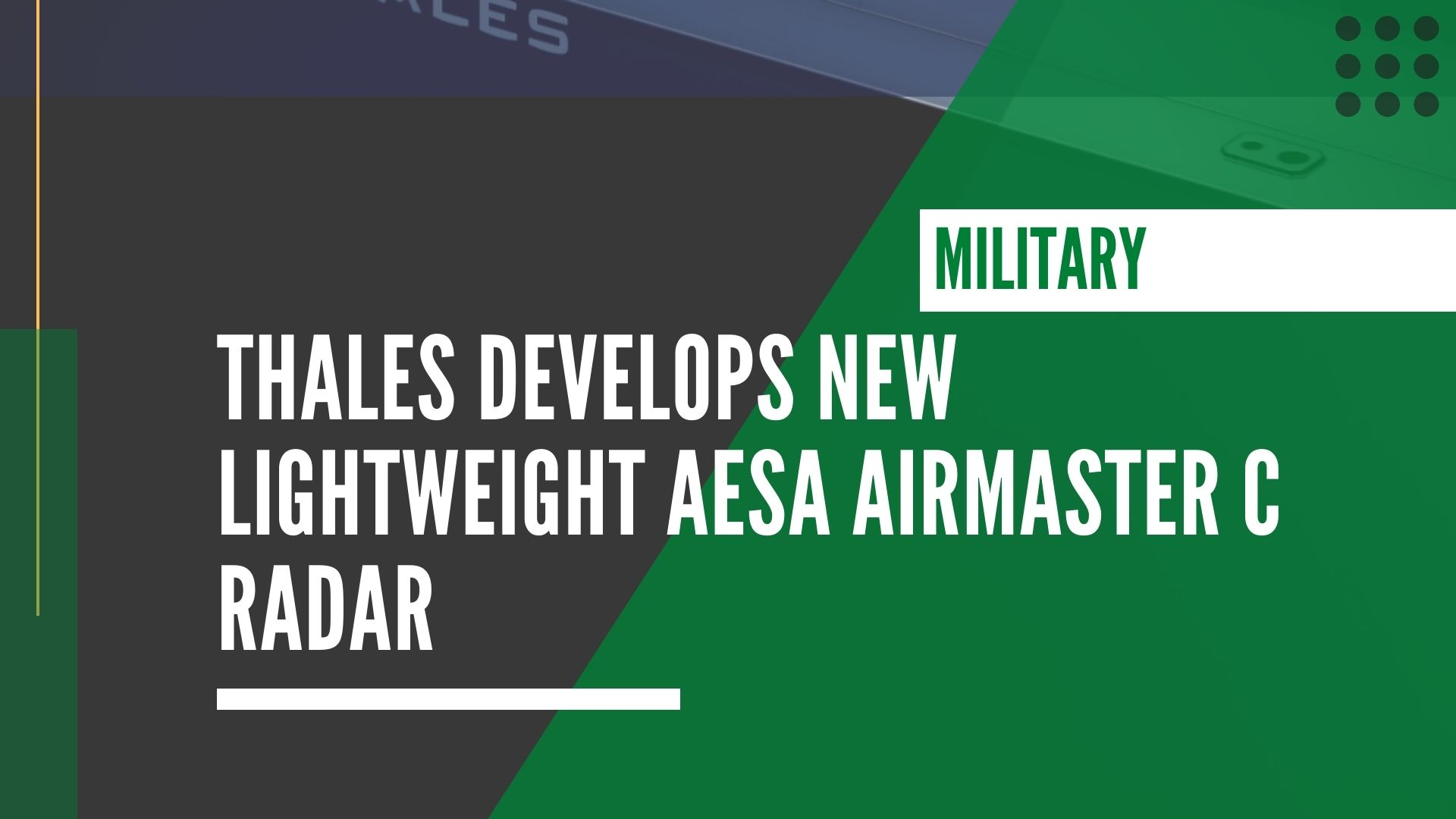 Thales develops new lightweight AESA AirMaster C radar