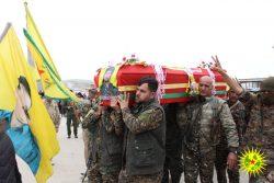 The funeral of Şehid Baran Galicia