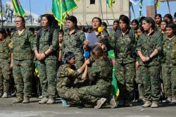 YPJ fighters announce the liberation of Raqqa