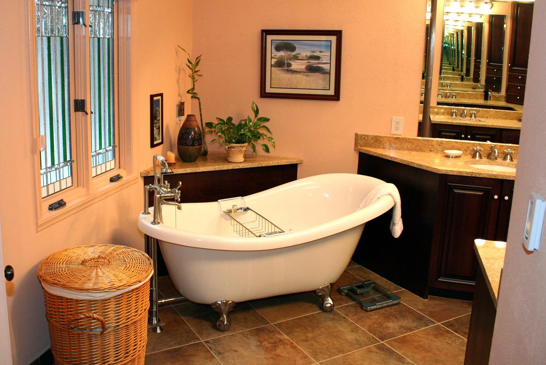 Beautiful Dark Bathroom  International Kitchen  Bath