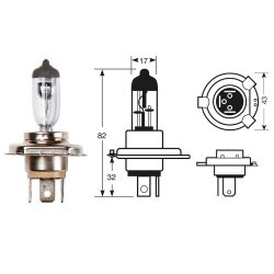 H4 472 Car Headlight Bulb H4 12V 60w 55W 60/55