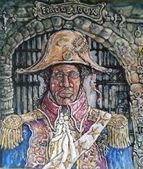 David-Guru-McClean-Barbados-First-Night-Fort-Joux-acrylic