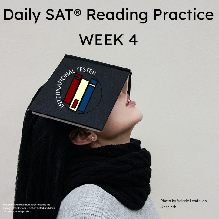 SAT articles for reading practice week 4 cover
