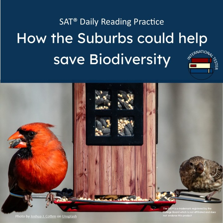 How the Suburbs could help save Biodiversity Practice Reading