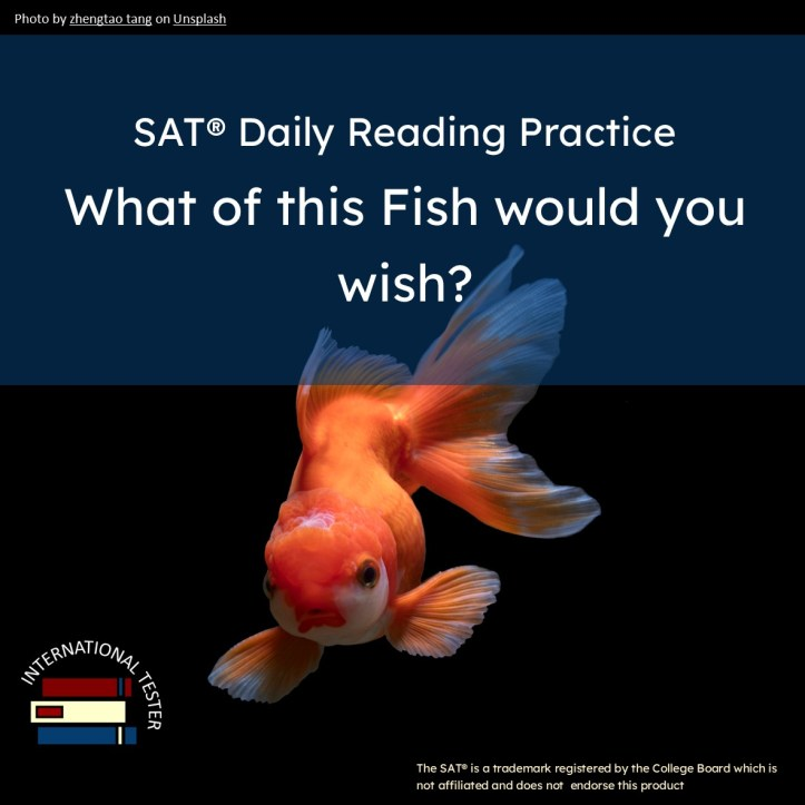 Etkar Karat What of this Goldfish would you wish short story with vocabulary list and reading questions