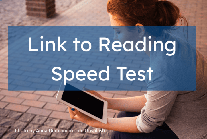 Image of girl reading an iPad to improve her SAT Reading. Linked to Reading Speed Test