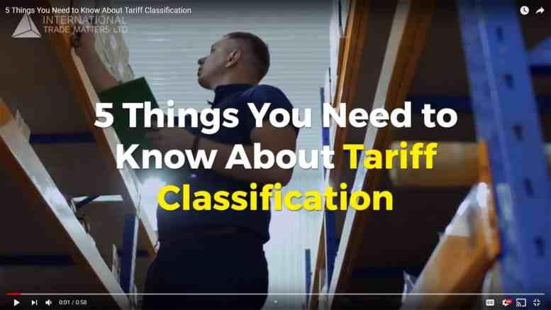 5 Things You Need To Know About Tariff Classification