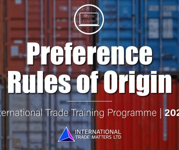Preference Rules of Origin Course