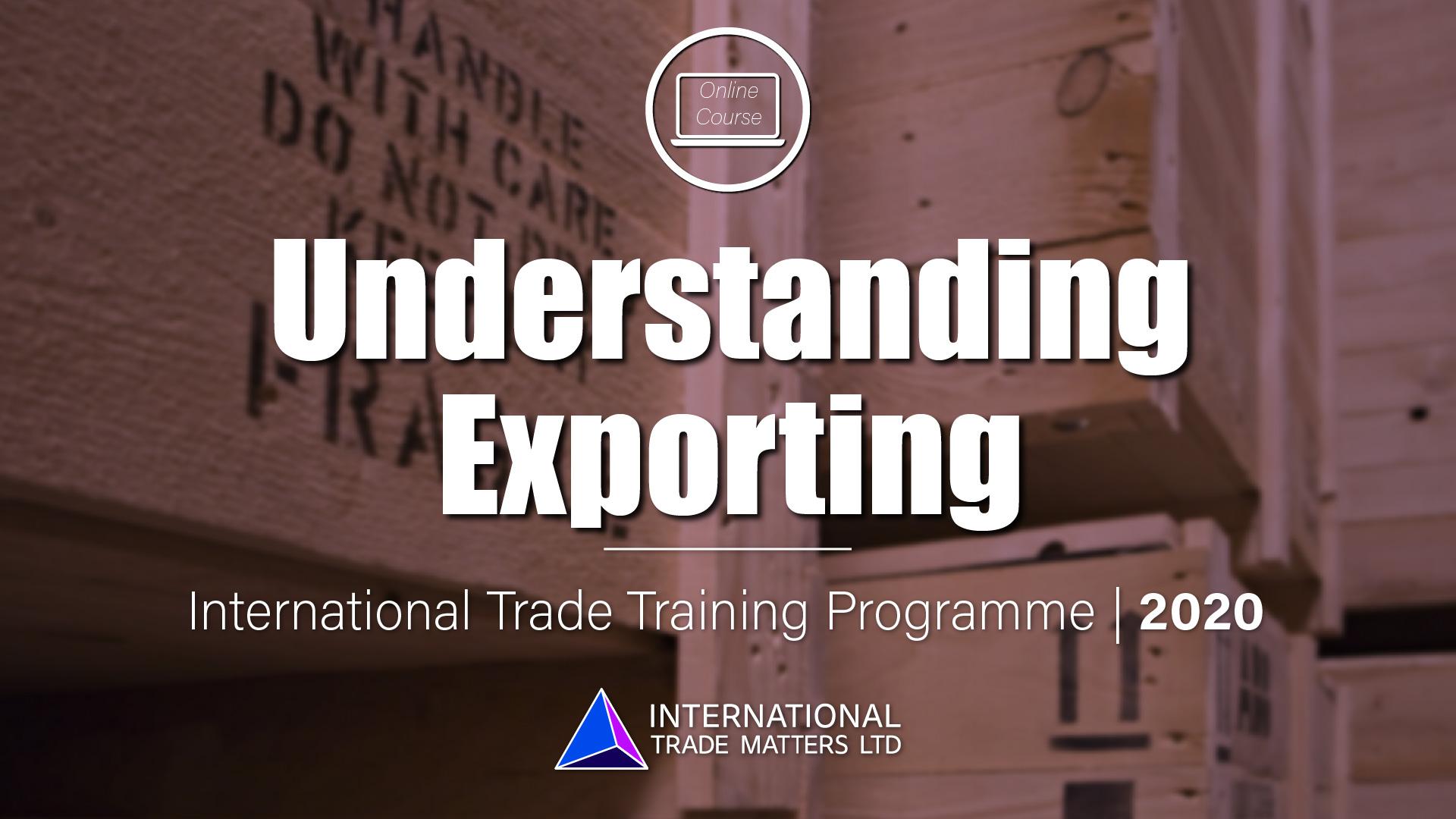 Understanding Exporting Course