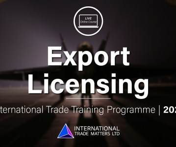 Export Controls & Licensing  – An Online Course