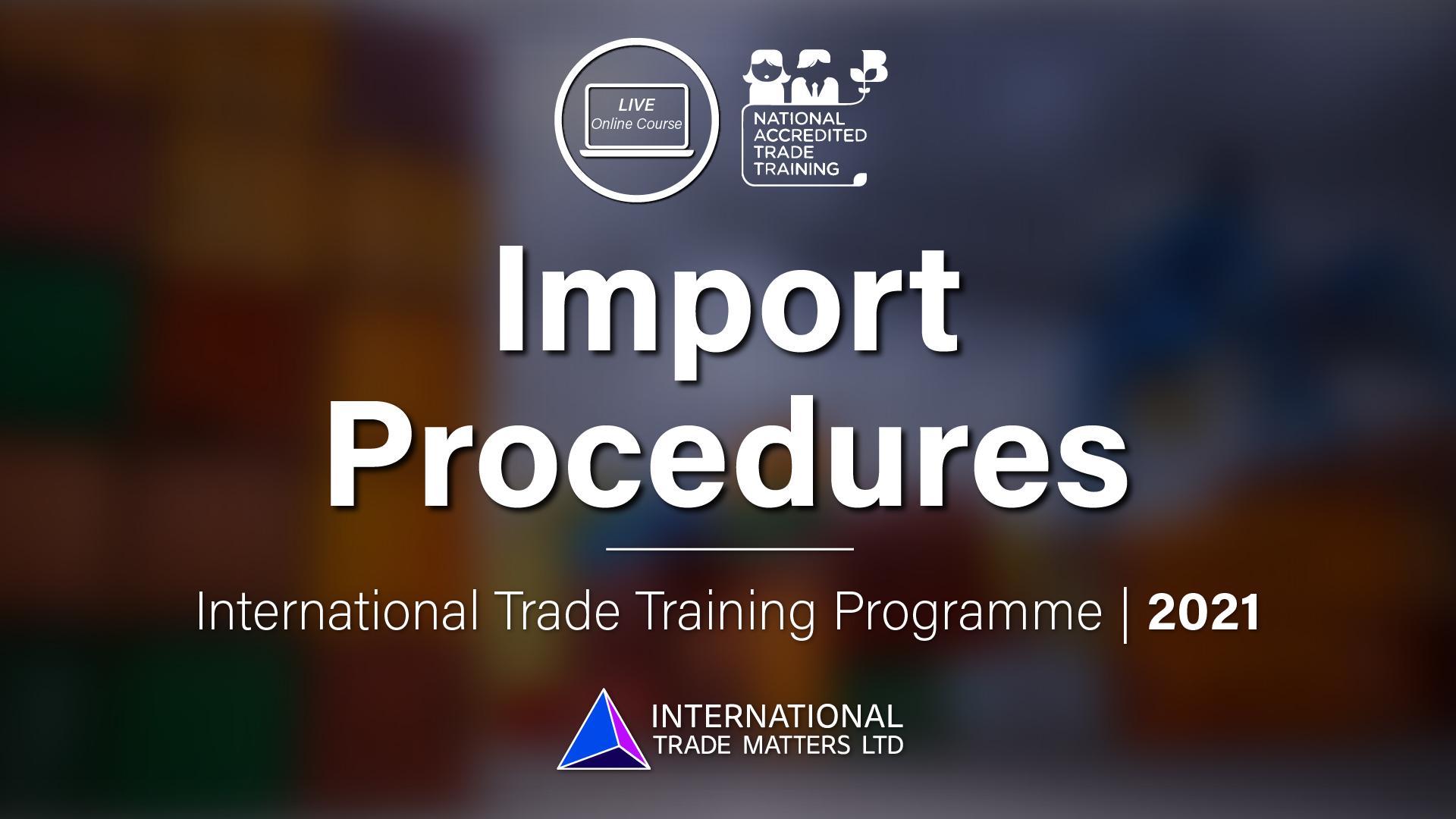 Import Procedures - An Online Course