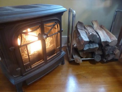 Stainless pipe firewood stand