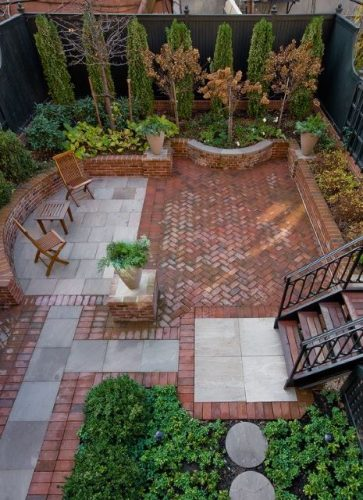 autumn patio landscape