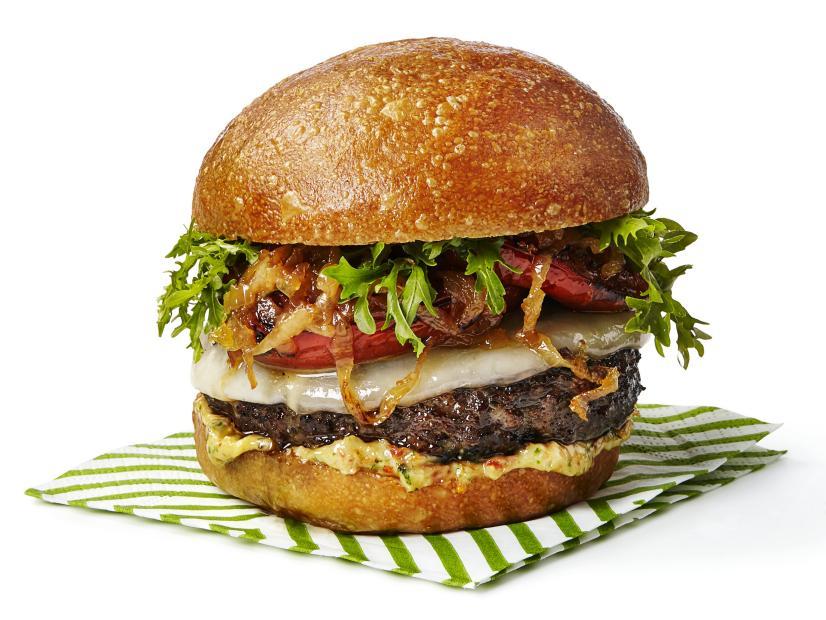 Tasty italian burger